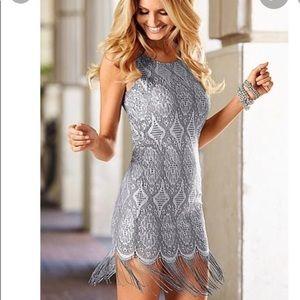 Venus Crocheted Fringe Dress Gorgeous NWOT